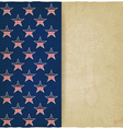 American stars old background vector image