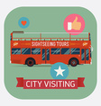 Sight Seeing Bus Promotional Poster vector image