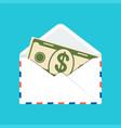 banknote in envelope vector image