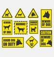 beware of dog sign vector image