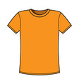Blank yellow t-shirt template vector image