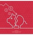 Broken pig piggy bank vector image