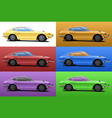 car in pop art style vector image