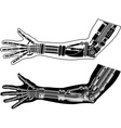 Cybernetic hand with stencil second variant vector image