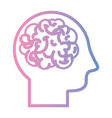 line man with anatomy brain design vector image