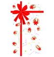 New Year Gift Card with Gift Boxes vector image