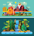 Summer landscapes vector image