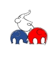 Cute elephants sketch for your design vector image vector image