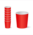 Party cups vector image