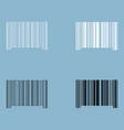 the barcode the black and white color icon vector image vector image