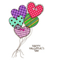 Card with scrap booking heart air balloons vector image
