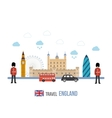London United Kingdom flat icons design travel vector image