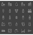 Milk line icons vector image