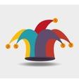 jester hat design vector image