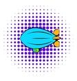 Airship icon comics style vector image