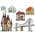 architectural objects vector image