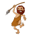 Caveman with spear vector image