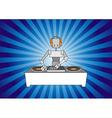 DJ robot vector image