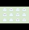 Ghost emoji vector image