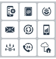 Set of communication contact us icons vector image