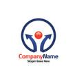 social share logo vector image