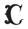The vintage style letter C vector image