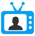 tv speaker flat icon vector image