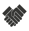 handshake done deal silhouette icon vector image