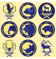Hunting club label collecton Grand safari logos vector image vector image