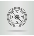 Line compass with cord vector image