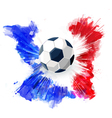 Soccer ball on Watercolor ink vector image