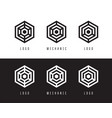 abstract hexagon logo design vector image