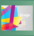 brochure design template geometric shapes vector image