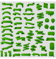 green web ribbon set vector image