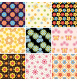 Pattern floral vector image