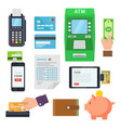payment of services via terminals and web services vector image