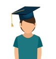 student graduation school set elements design vector image