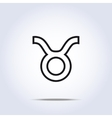 Taurus black and white icon vector image