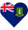 virgin islands heart flag vector image