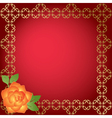 red card with golden borders vector image vector image