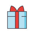 gift wrapped box concept line icon vector image