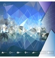 Blue abstract background triangle design vector image