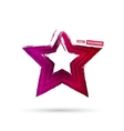 3d colorful star design vector image