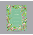 Tropical Flowers Colorful Frame - for Invitation vector image