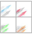Arrow abstract background collection template vector image