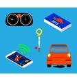 Automotive icons set vector image