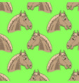 colored horse head seamless pattern vector image