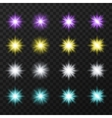 Colorful stars set vector image