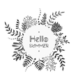 Floral black and white bouquet vector image