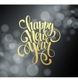 Happy New Year background with a gold lettering vector image